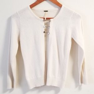 FREE PEOPLE Lambswool Crop Sweater Cardigan